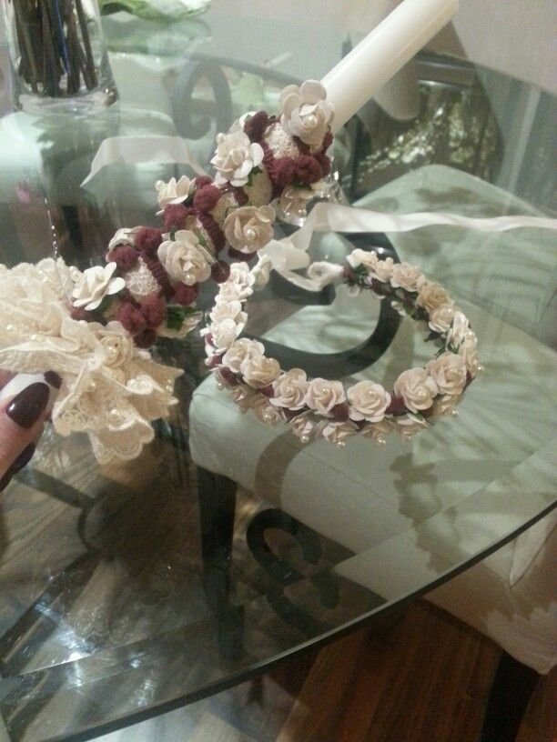 Candle and crown for my neice done with love for palm sunday...