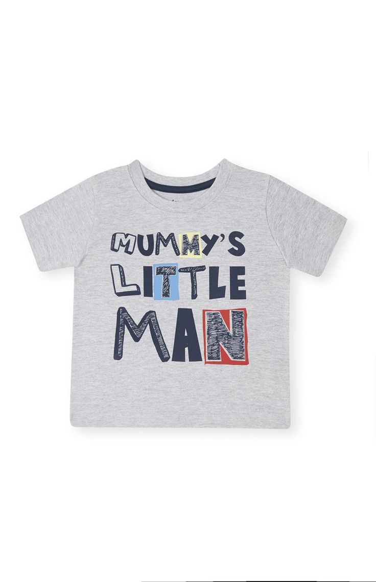 Primark - Grijs T-shirt met mummy's little man-print