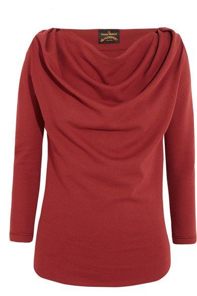 Dusty-merlot jersey Slips on 68% viscose, 28% polyamide, 4% elastane Dry clean Made in Italy