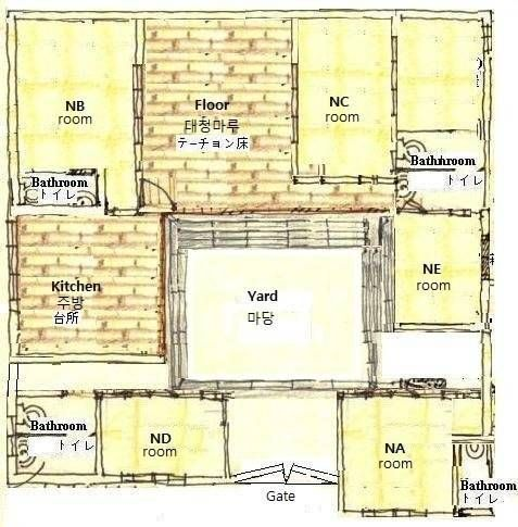 85 best hanok house korea images on pinterest for House layout plans