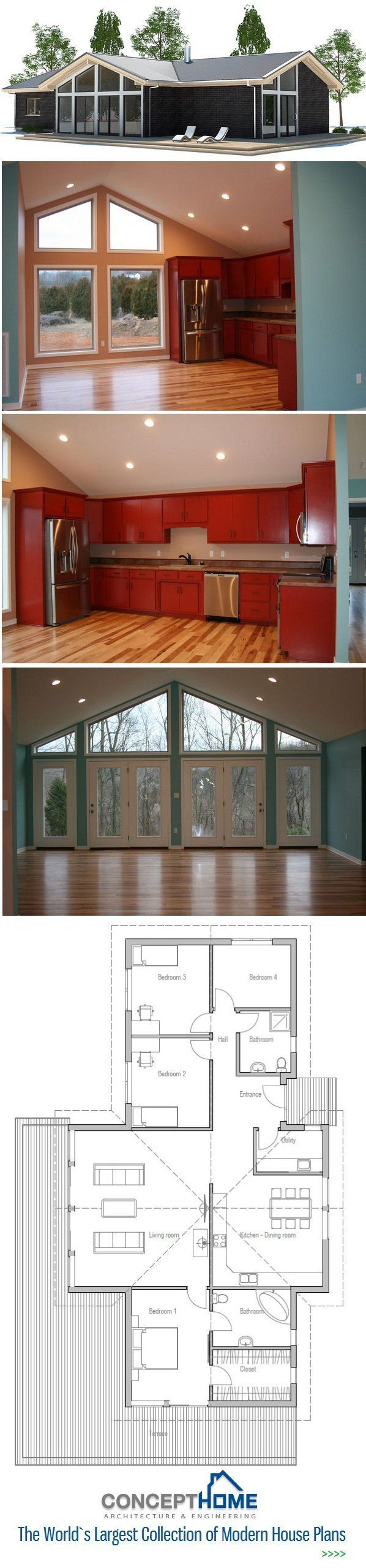 Small House Plan Floor Plan from ConceptHomecom