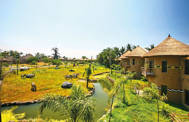 Mara River Safari Lodge at Bali Safari & Marine Park - The accommodation is composed in a series of comfortable bungalows orientated around a landscape inhabited by wildlife.