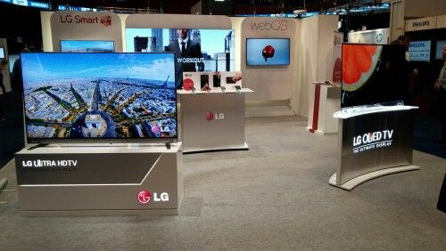 LG Nordic showing webOS, Ultra HD, OLED and the latest smartphones at Dustin Expo 2014