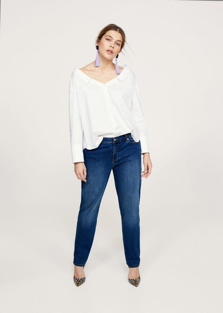 Flowy off-shoulder blouse -  Plus sizes | Violeta by MANGO USA