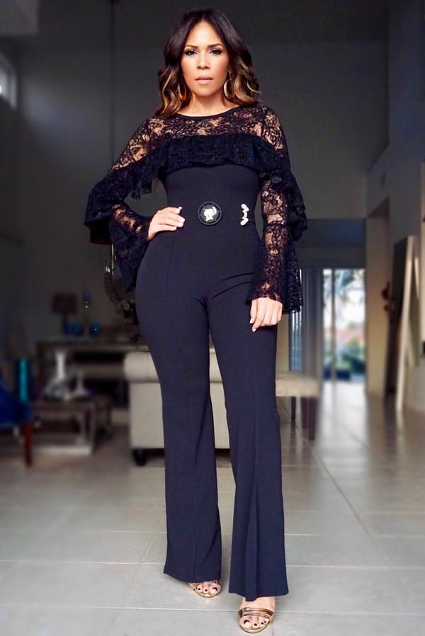 91e86319e89 HAZEL LONG SLEEVES FLOWER DETAILED MESH JUMPSUIT IN BLACK ...