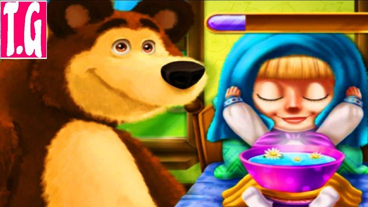Masha Spring Allergy - Masha and the bear doctor games— GAMES FOR KIDS. ...