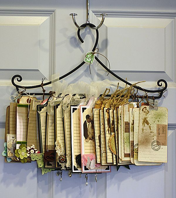 If you have a pretty hanger, a nice way to display your art tags