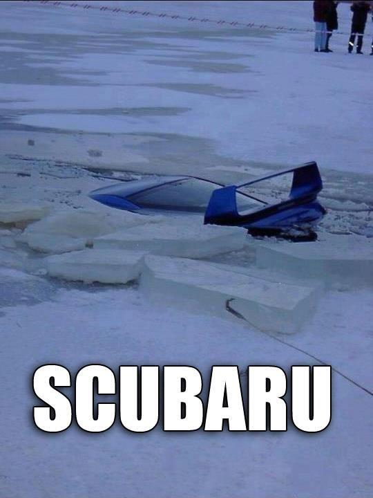 Subaru scuba diving #jokesontheroad