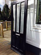 STUNNING ART DECO STAINED GLASS FRONT DOOR HARDWOOD BESPOKE ORDER PERIOD