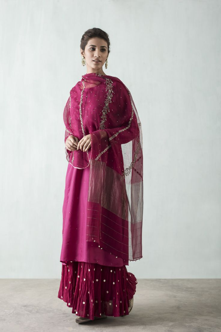 ROYAL MUGHAL Evening wear handcrafted in sadka net, brocade and silk from Banaras, in silhouettes that tribute the imperial style of Empress Nur Jahan.