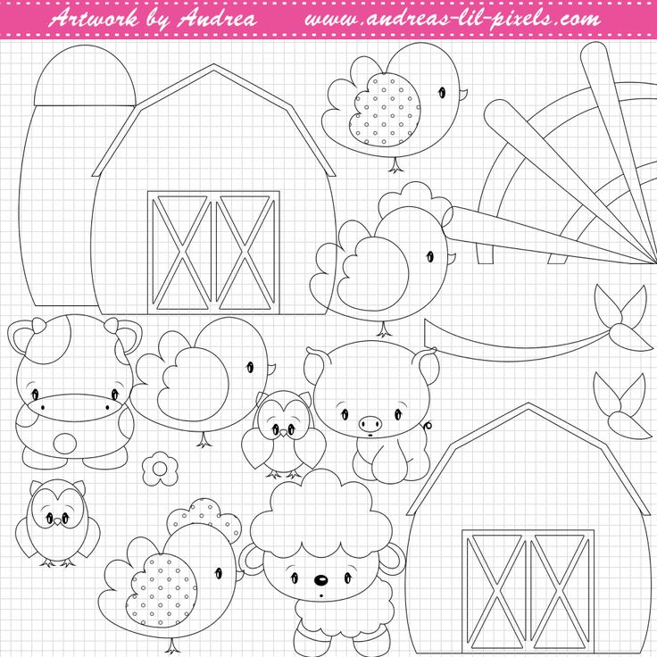 Diddles Farm-Lineart-Stamp-001 This little cute
