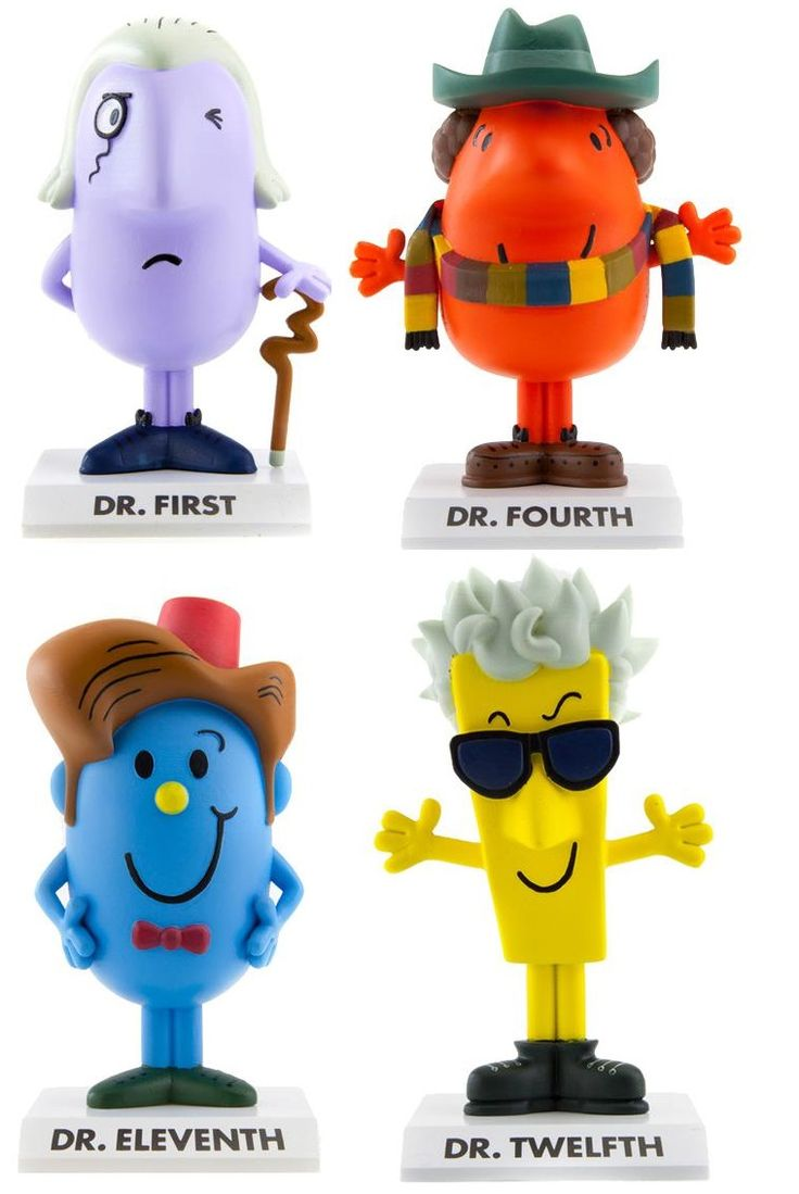 Doctor Who/Mister Men Figurines, the Hot Geek Toy for Christmas
