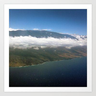 Island above clouds Art Print $15.00 #maui #island #photography #print #paradise