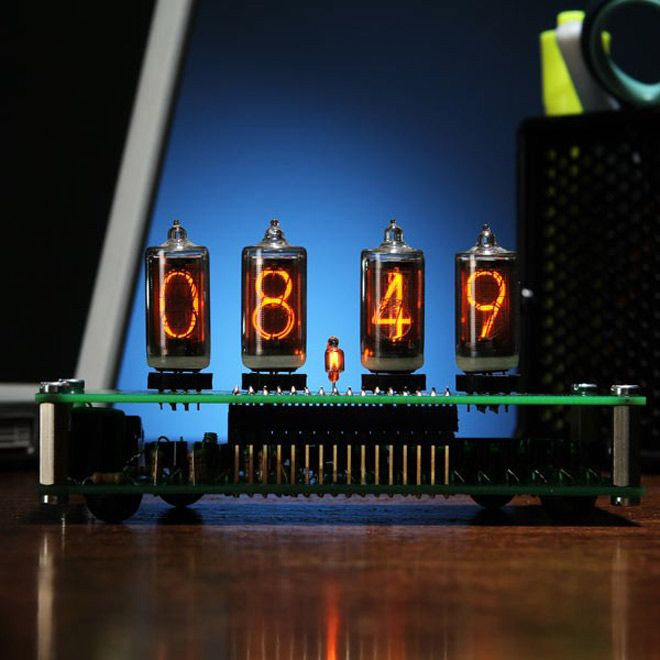 Build Your Own Nixie Tube Desk Clock with this DIY Kit
