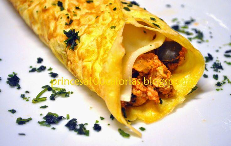 Manias de uma Dietista: Crepe de ovo recheado