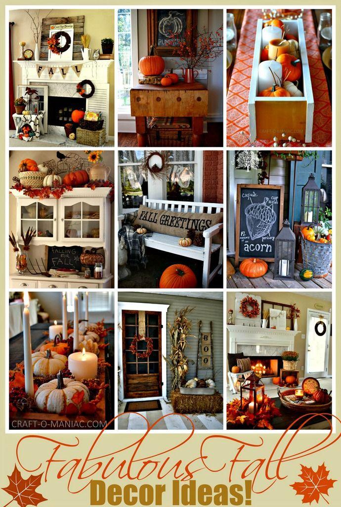 Fabulous Fall Decor Ideas! www.craft-o-maniac.com #falldecorideas