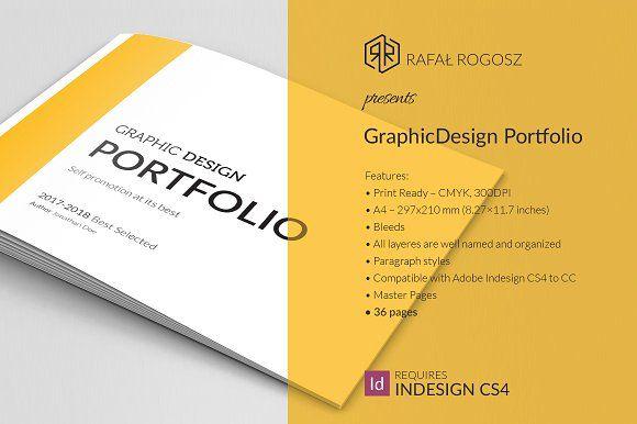 Graphic Design Portfolio Brocure A4 by buttonpl on @creativemarket