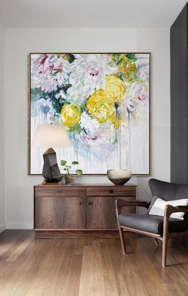 Abstract Flower Oil Painting #LX69A