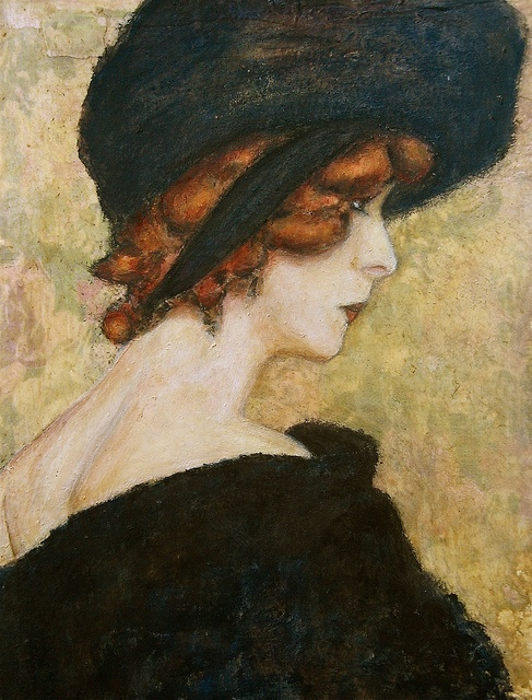 Betty Wilkins after painting by Wladyslaw Slewinski
