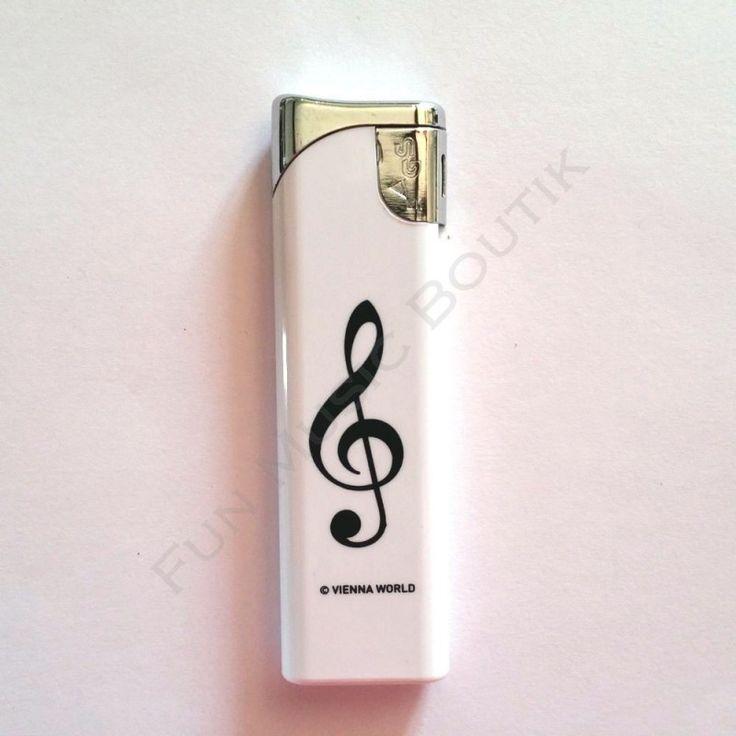 Briquet blanc clé de sol - Fun Music Boutik