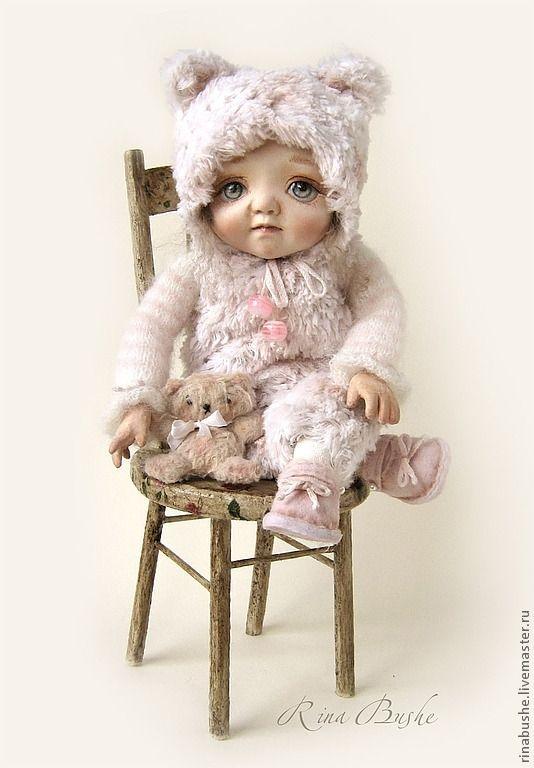 Муся - бледно-розовый,кукла,кукла ручной работы,кукла в подарок,авторская кукла