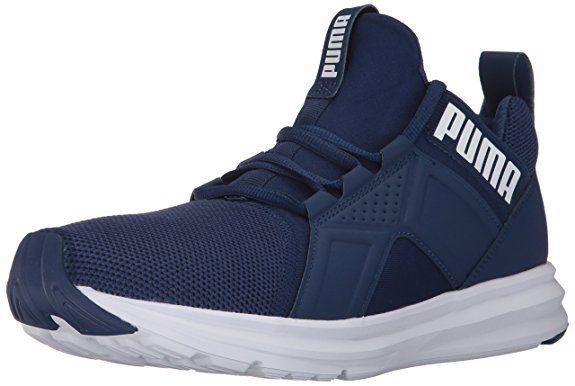 PUMA Men's Enzo Mesh Sneaker, Blue Depths White, 10 M US