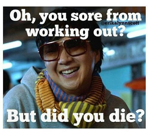 But did you die? haha
