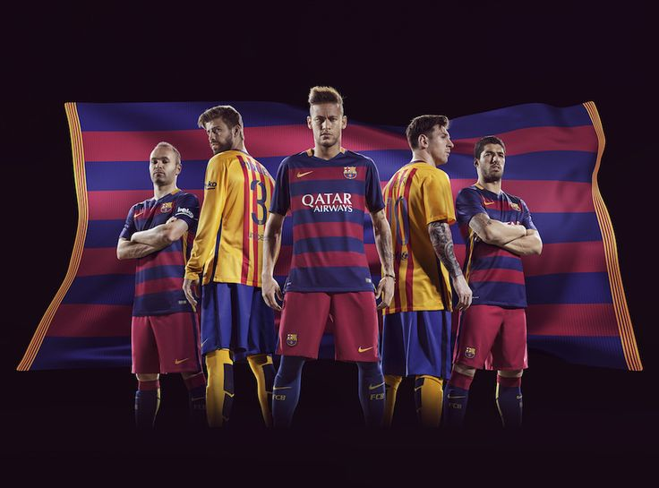 """nike presents fc barcelona - home and away 2015/16 kits""  #nike   #nikefootball   #football   #soccer   #fcbarcelona   #barcelona   #messi   #neymar   #iniesta"