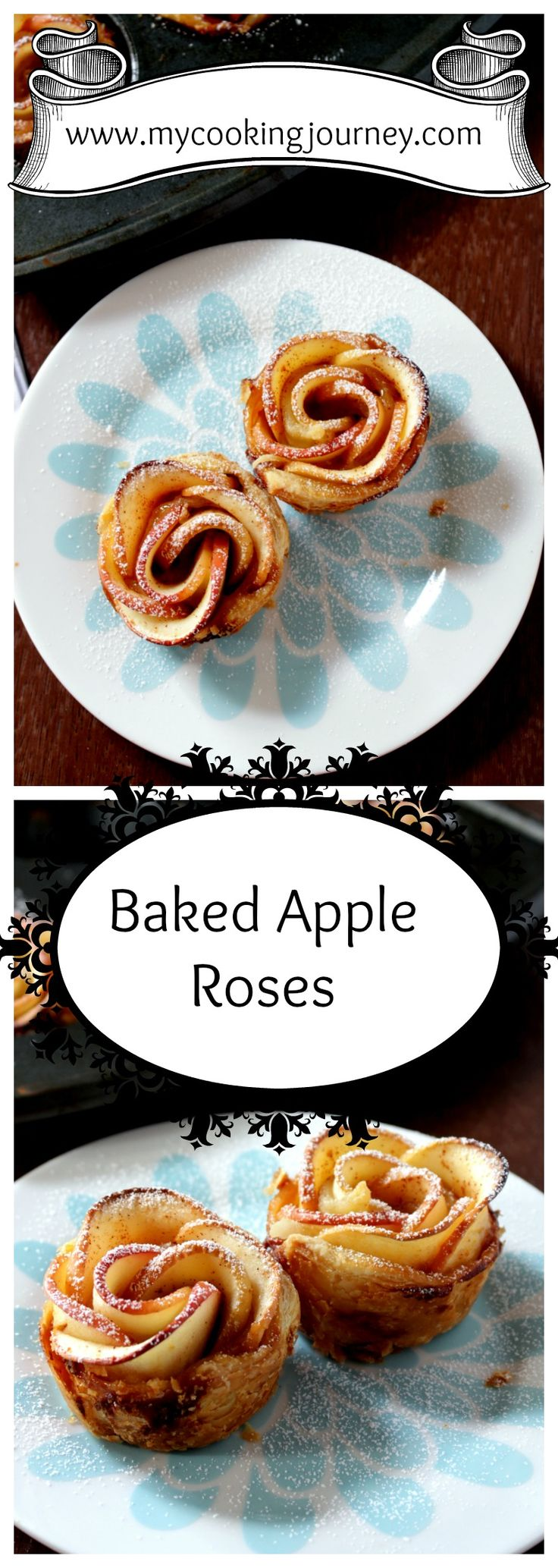 Beautiful Apple Roses made with store bought puff pastry sheets!