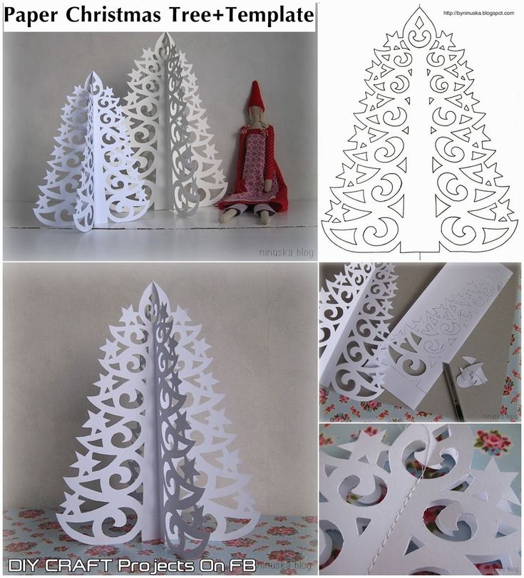FREE printable Paper Christmas Tree with tutorial step by step