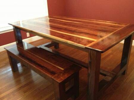 17 best images about kitchen tables with benches on for Wood kitchen table plans