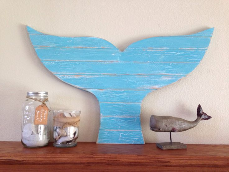 Over-Size Whale Tail, rustic surf decor, pallet beach decor, coastal decor, mermaid tail, surfing by NCSustainableStyle on Etsy