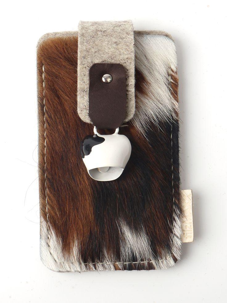 kuschelt auch unterwegs: Smartphone Hülle. Filz, Fell, Iphone