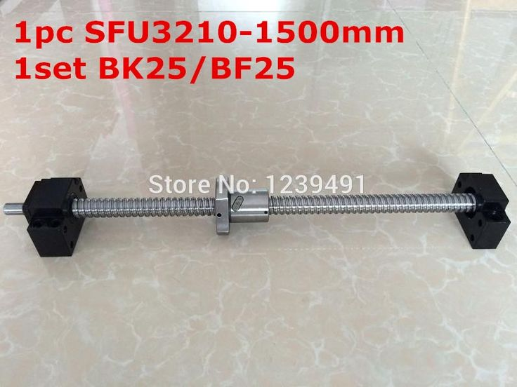 115.90$  Watch now - http://alipyu.worldwells.pw/go.php?t=32759926599 - SFU3210 - 1500mm ballscrew with end machined + BK25/BF25 Support CNC parts