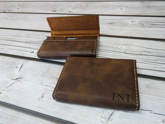 Custom Engraved Leather Business Card Holder Personalized Card Case Corporate Gifts Boss Corporate Gifts Leather Business Cards Personalized Christmas Gifts