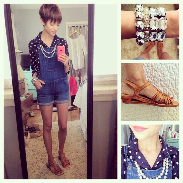 Overalls & polka dots :) emma_gustavson