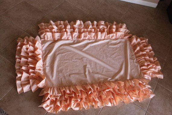 DIY - For Auntie to sew... Ruffled Crib Skirt