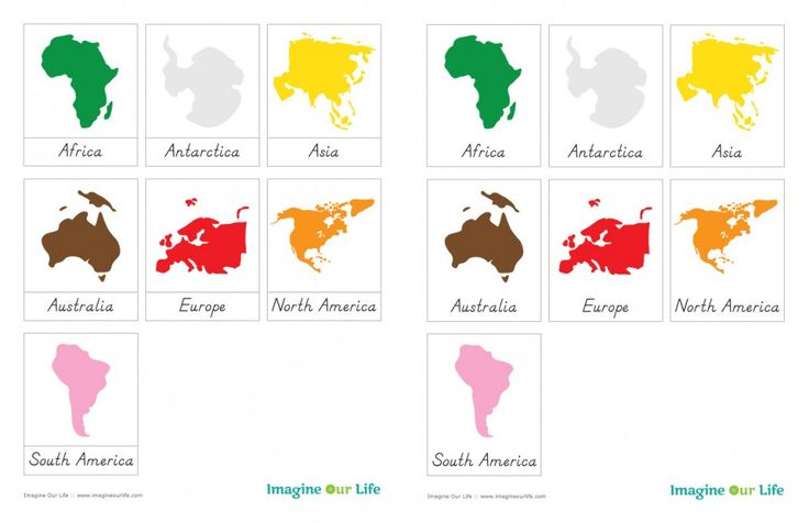 Montessori Continents Free 3-Part Cards and some other cute ideas for continents