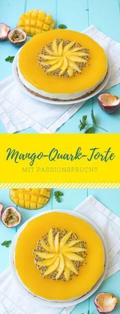 Mango Quark Torte mit Passionsfrucht
