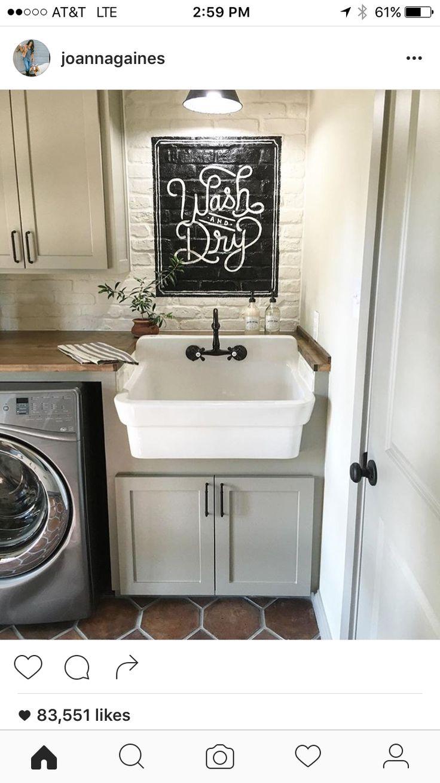 Joanna Gaines' laundry room (Fixer Upper)
