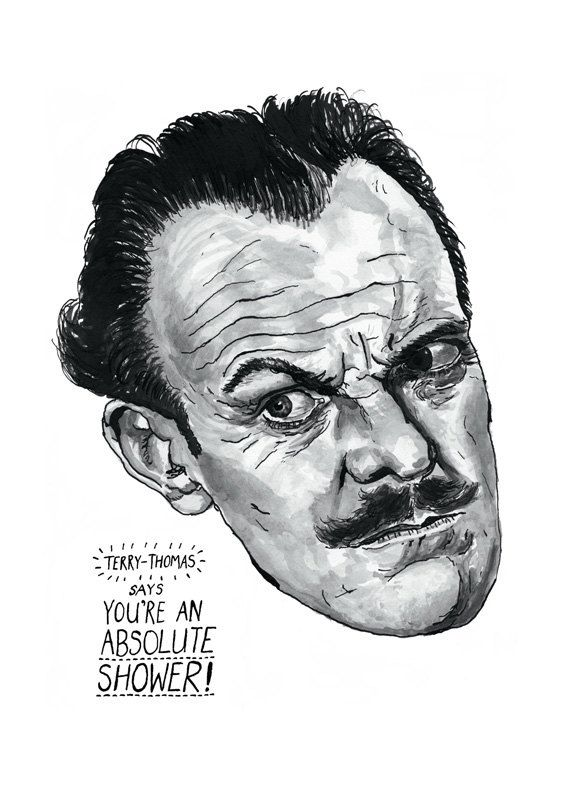 TerryThomas poster print Great English Comedy by StandardDesigns, £12.50