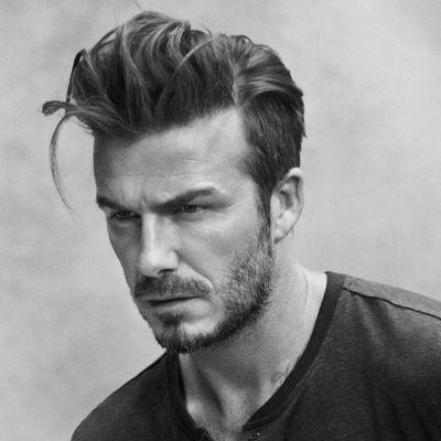david beckham messy pompadour hairstyle for men