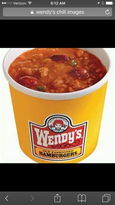 This is my tried and true version of Wendy's chili.  It's the closest thing I've ever tasted to the real deal.  2lb 80/20 ground beef 1 quart tomato juice 29oz tomato purée 15 oz red kidney beans 15 oz pinto beans 1 can French onion soup 1 large onion diced 1/2 c diced celery 1 medium green pepper diced 3 cloves fresh garlic minced 3 T chili powder 1 T cumin 2 t oregano 1/2 t cayenne  2 t brown sugar  Brown gr beef & veggies in some oil.  Remove with slotted spoon.  Add all to pot. Simmer 2…