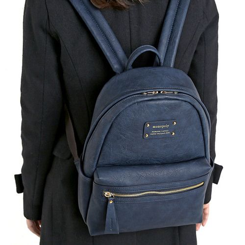 Monopoly Wanna be professional leather small backpack by Monopoly. The Wanna be professional small backpack is perfect for school, office and so much more.