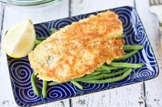 Parmesan Pan Seared Tilapia: Quick and easy to make fish. If you are looking for a different way to cook and bread your fish then you will want to give this recipe a try.