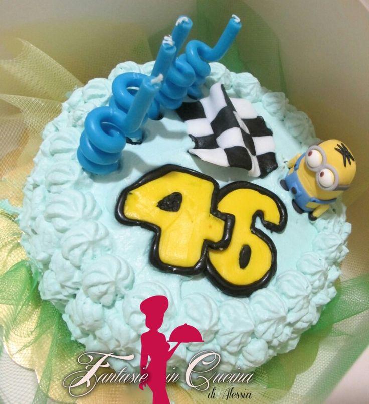 #Tortadicompleanno #mini #vr46 #minions #pastadizucchero #motogp #candeline  #FantasieincucinadiAlessia #suordinazione