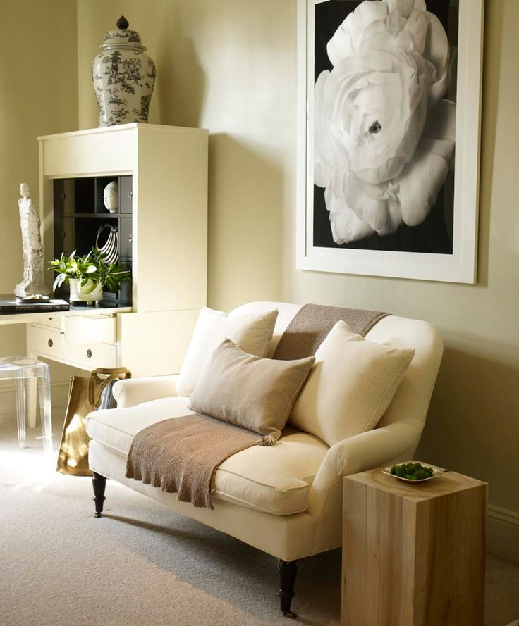 Small Room Seating Ideas Part - 36: Beige Bedroom Seating Area Loveseat Styling