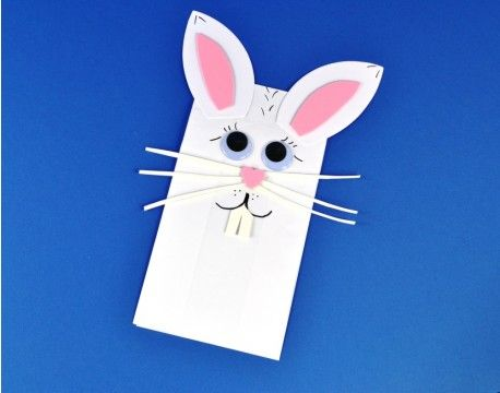 Easter Bunny Bag Puppet, can be adapted for crafters of all ages! Available as a kit.