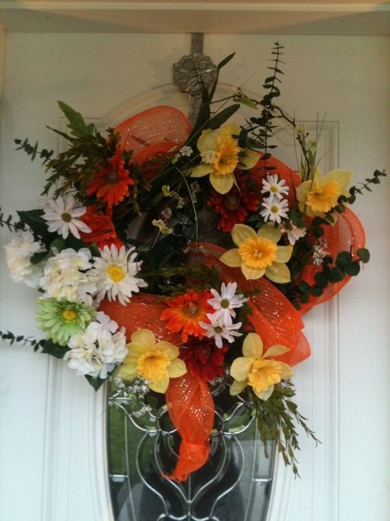 Summer Wreath Front Door Colorful And Bright Outdoor