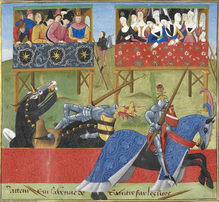 The Romance of Jean de Saintré - caption: '[Miniature] Jean de Saintré jousts with the Spanish knight, Enguerrant, at a tournament.' | Flickr - Photo Sharing!